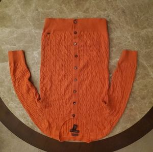 Tommy Hilfiger orange cotton sweater